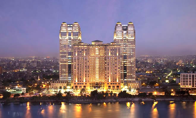 Fairmont Nile City Luxury Hotel, Cairo, Egypt