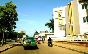 a street in Cotonou, Benin Republic